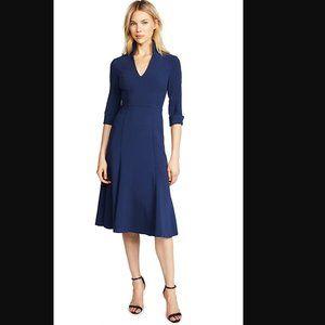 Black Halo Kensington Fit & Flare Navy Dress